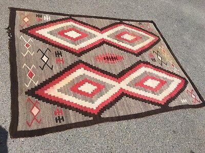 """Antique Navajo Woven Blanket 72"""" X 54"""""""