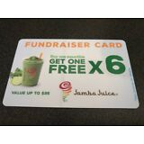 Jamba Juice BOGO fundraiser card - 6 buy one get one free per card
