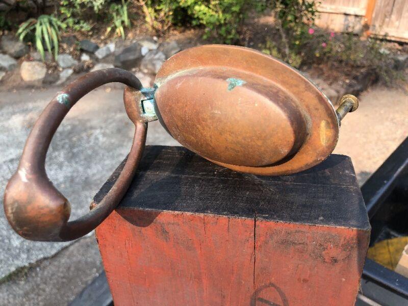 vintage solid brass door knocker Large heavy front door Speakeasy oval
