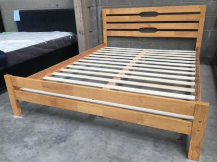 Brand new rubber wood bed frame in white color   Beds   Gumtree ...