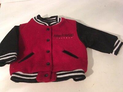 AMERICAN GIRL DOLL RED VARSITY JACKET COAT CHICAGO FOR DOLL - Varsity Jacket For Girl