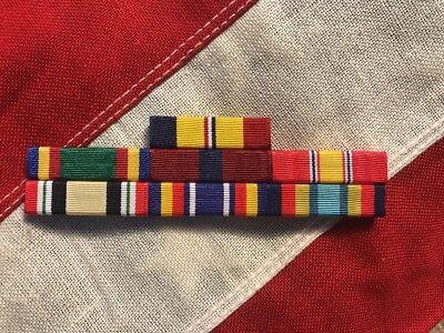 Marine Corps 7 Ribbon Bar Mounted Iraq Global War On Terrorism USMC Made In - Marine Corps Ribbon Mount