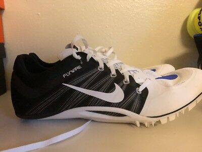 acccd9aa016c5 Nike Zoom Ja Fly 2 Track Spikes White Black 705373-100 Men s 10.5 New