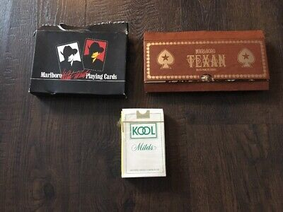 Vintage Tobacco Advertising Playing Cards Marlboro & Kool 3 Sets (5 Decks)