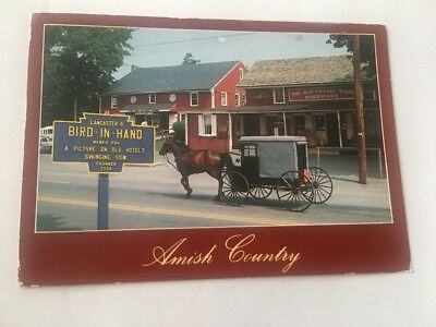 Vintage Postcard Posted Amish Country Store Bird In Hand PA