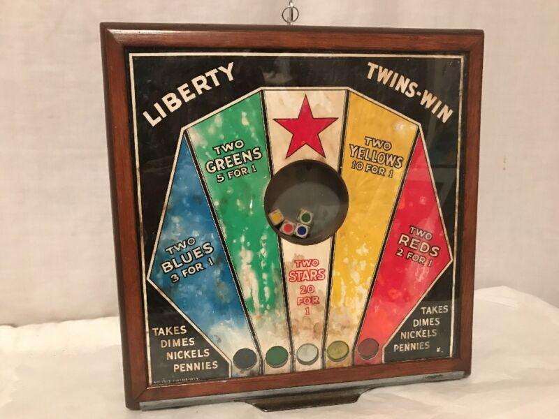 Rare 1939 Liberty Twins-Win Dice Trade Stimulator