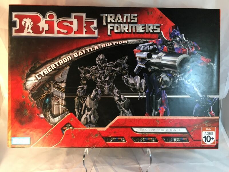 TRANSFORMERS RISK CYBERTRON BATTLE EDITION BOARD GAME Still In Plastic Bags