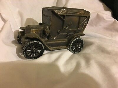 VINTAGE CAR METAL BANK 1910