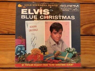 elvis presley wooden heartblue christmas 1964 rca 447 0720 vinyl vg - Blue Christmas By Elvis Presley
