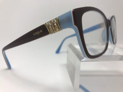 Vogue VO 1765-B Baby Blue And Bown Flexhinge Eyeglasses 53-16-140 K744 (Round And Bown)
