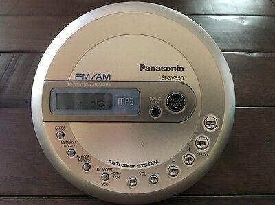 JAPAN PANASONIC WALKMAN SL-SV550 PORTABLE CD FM/AM MP3 PLAYER 30 STATION MEMORY