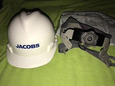 MSA V-Gard Hard Hat With Fas-Trac II Jacobs Logo NIB 6 pack