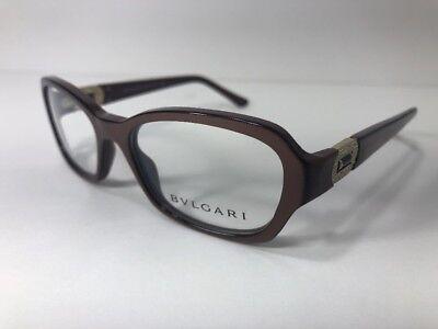 New BVLGARI 4071-B 5177 Brown Pearl Designer Women Eyeglass Frame Bulgari Glass
