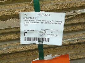 10 P6 Mezzanine TG2 Chipboard Flooring 38x2400x600mm HDX (8ft x 2ft)