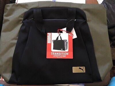 649dfaa8f9 NEW PUMA Lifestyle Yoga GYM MULTI USE Bag Transition Black  Green 18