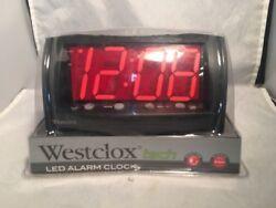 Westclox 66705 Oversized Snooze Alarm Clock Digital LED Display - 1.8''