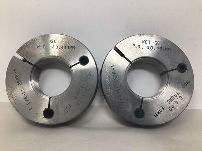 1 14 - 11 Bspp-a Thread Ring Gages Go No Go P.d.s Modified Trunc. Form
