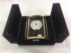 Howard Miller Brass Clock Desk or Table Clock New Orleans 645-217 NIB