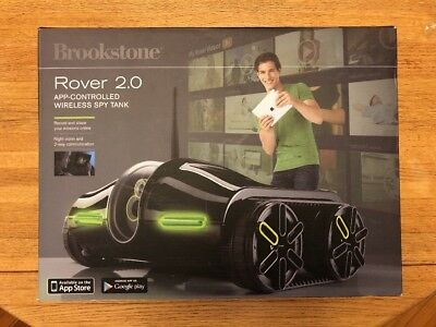 New In Box Brookstone Rover 2.0 Video Tank iPhone / Android App controlled drone