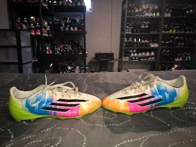 f52c8df1dd95 2014 Adidas F10 TRX Messi FG Boys Youth Soccer Cleats Size 5 Multi Color