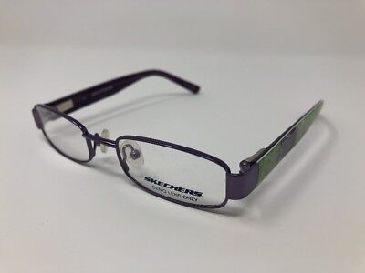 5e5a21fb66a Kid s Skechers SK 1501 Eyeglass Frames Purple Green 44 17 125 Flex Hinge  HN58