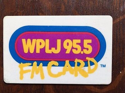 95.5 WPLJ FM CARD 1980 American Broadcasting Company New York NYC extremely rare