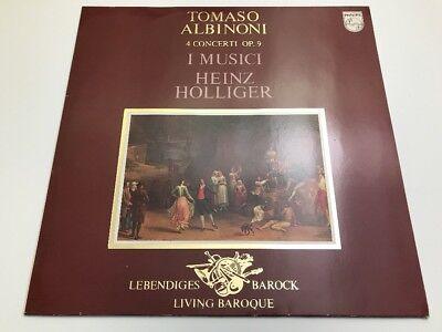 Tomaso Albinoni - I Musici, Heinz Holliger, 4 Concerti Op. 9 - Vinyl LP - EX/NM