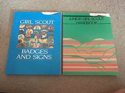 Girl Scout Vintage Junior Handbook Badges And Signs  Good Condition