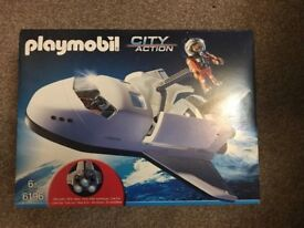 Playmobil City Action 6196 Space Shuttle With Light Two Astronauts/A Cannon - NEW