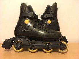 Cougar Inline Roller Skates Women's Size 2-3 With Elbow & Knee Pads