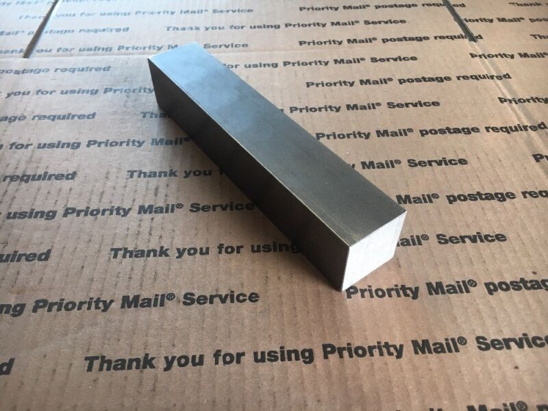 "1 1/2"" Square Steel Bar 1018 CF Solid Blacksmith Iron Machining Bar 8"" Long"