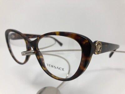 NEW Authentic VERSACE MOD 3246-B 108 Rx Frames Havana 54/17/140 Cat Eye 3516