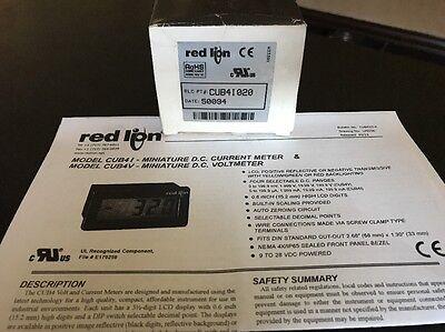 New Red Lion Dc Current Digital Panel Meter Wred Backlighting Cub4i020