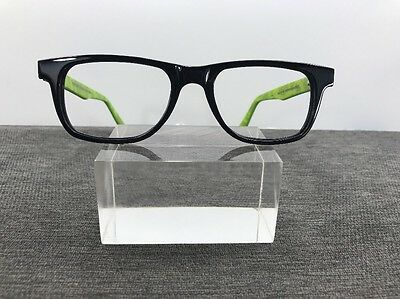 Vincent Chase Eyeglasses 50-18-140 Black/Lime Flex Hinges D276