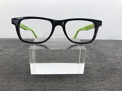 Vincent Chase Eyeglasses 50-18-140 Black/Lime Flex Hinges D276