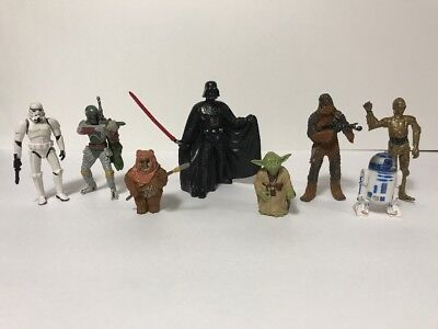 Disney Theme Park Exclusive Star Wars Collectable Figures 8 Piece Used