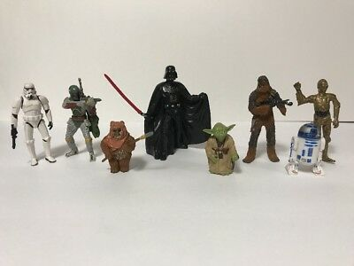 Disney Theme Park Exclusive Star Wars Collectable Figures 8 Piece - Starwars Theme