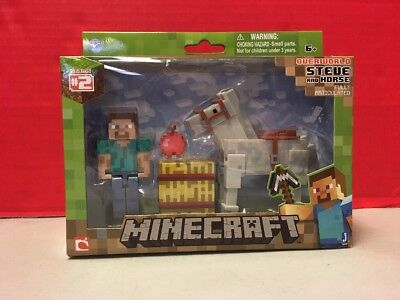Minecraft Overworld Steve And Horse Series 2 Mojang Action Figure