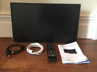 """AVTEX TV / DVD 21"""" complete with remote and cables (240v and 12v)"""