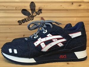 ronnie fieg x asics gel lyte iii selvedge denim ebay