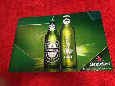 heineken light amstel beer banner sign bar game room for sale  Shipping to Canada