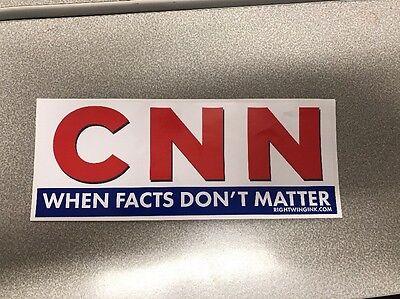 CNN Fake news network vinyl decal sticker Donald Trump  When Facts Don't Matter