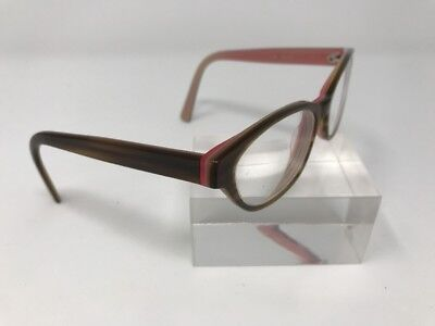 MYOPTICS EYEGLASSES Women's Cat Eye USA Brown/PINK FRAMES ONLY LISA 1816