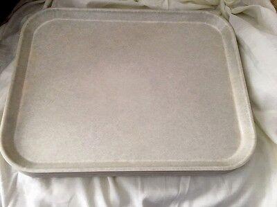 Fun Vtg Cambro Camlite Cafeteriabuffet Serving Traysplatters Fiberglass Grey