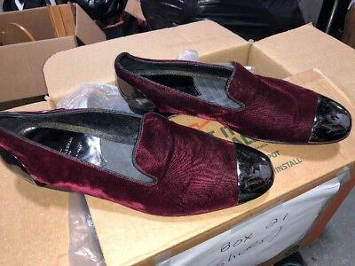 Louis Leeman Burgandy And Silver TIp Size 45 Men's Dress Shoes