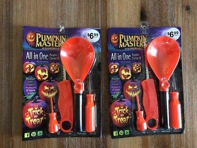 Lots Of 2 Pumpkin Master All In One Kit 8 Stencil Halloween Decor](Halloween 2 Pumpkin Stencil)