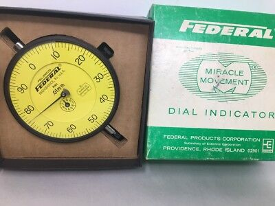 Large Federal R61 Dial Indicator Miracle Movement .01mm With Box