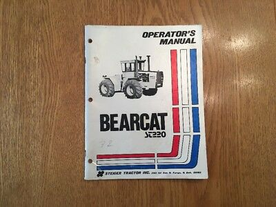 Steiger Bearcat St220 Series Tractor Original Operators Manual 37-047