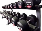 POWER MAXX Round Rubber Dumbbell Set 10 to 40kg CG10-40DBSET Banksmeadow Botany Bay Area Preview