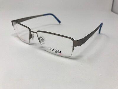 IZOD pfx Eyeglasses Frames CV X 520 55-16-145 Matte Pewter Half Rim EE94